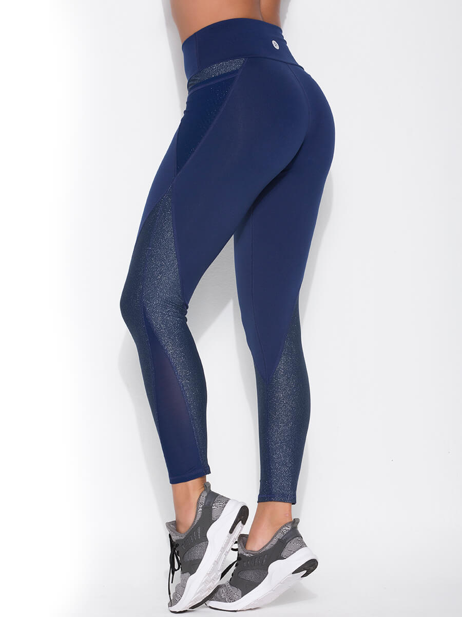 navy blue leggings for women back