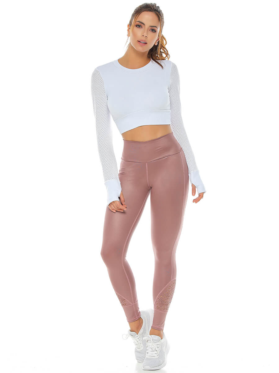 PAIGE ROSE GOLD LEGGINGS