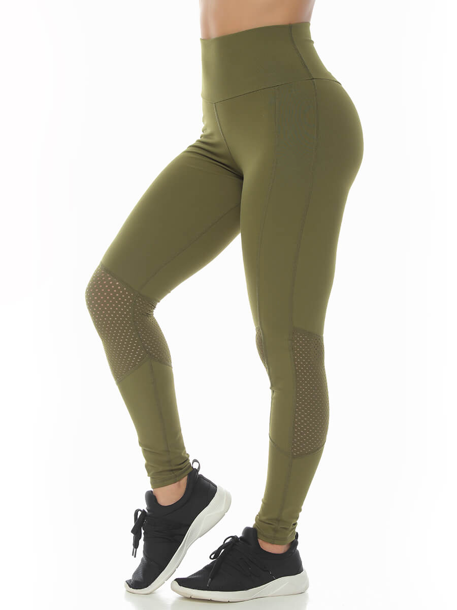 LENA ARMY GREEN LEGGINGS