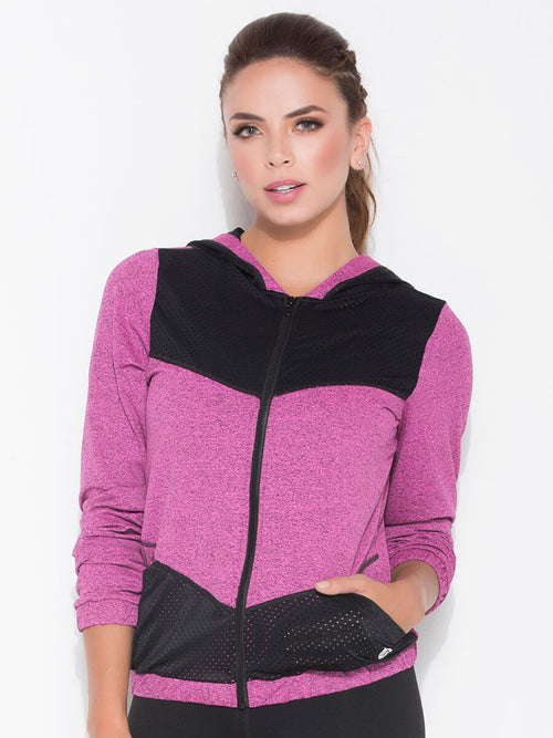 pink sports jacket front