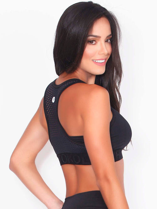 ZULA BLACK SPORTS BRA