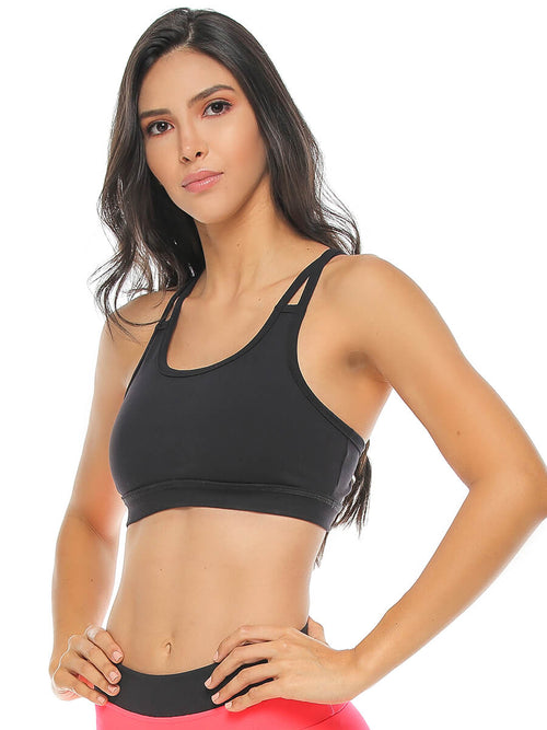 BEVERLY BLACK SPORTS BRA