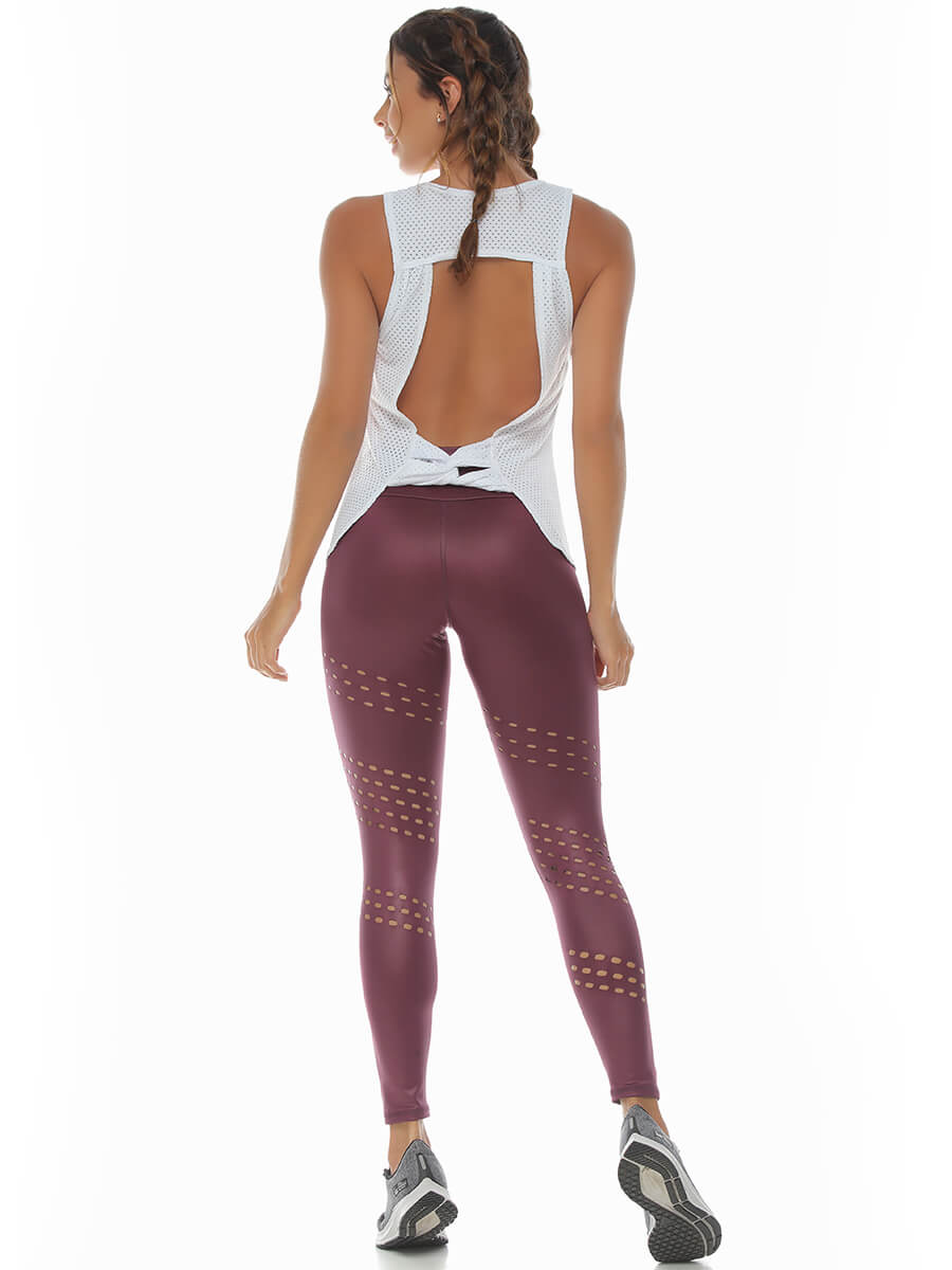 IRENE WINE LEGGINGS