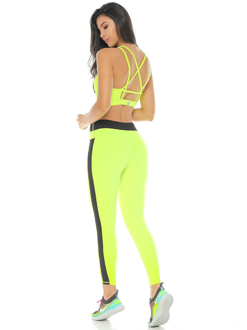 BEVERLY NEON GREEN LEGGINGS