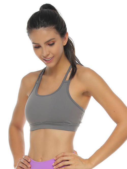 BEVERLY GRAY SPORTS BRA