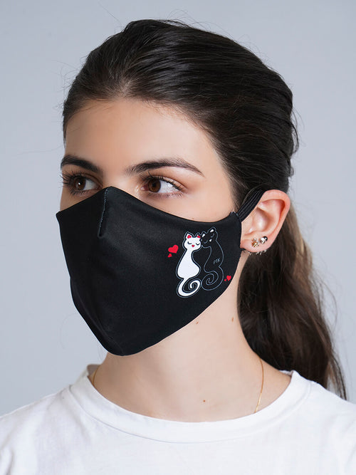 BIG DOTS REVERSIBLE FACE MASK