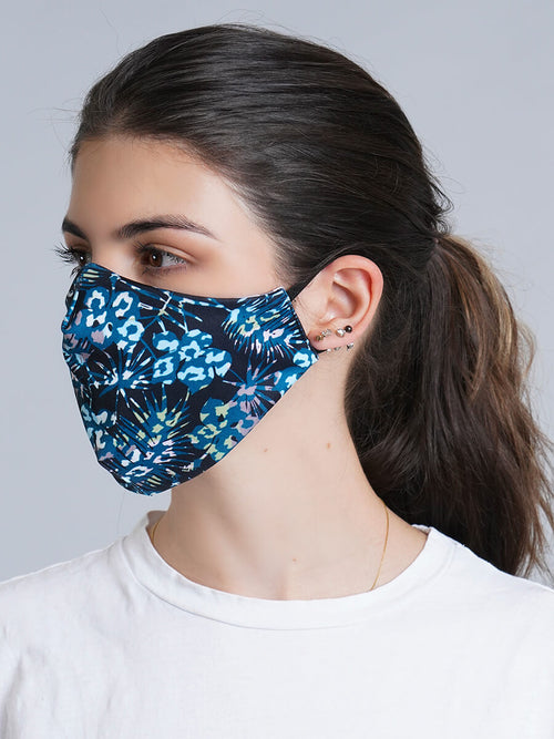 BLACK CAMO REVERSIBLE FACE MASK