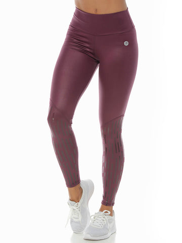 ROSIE BLACK/WINE LEGGINGS