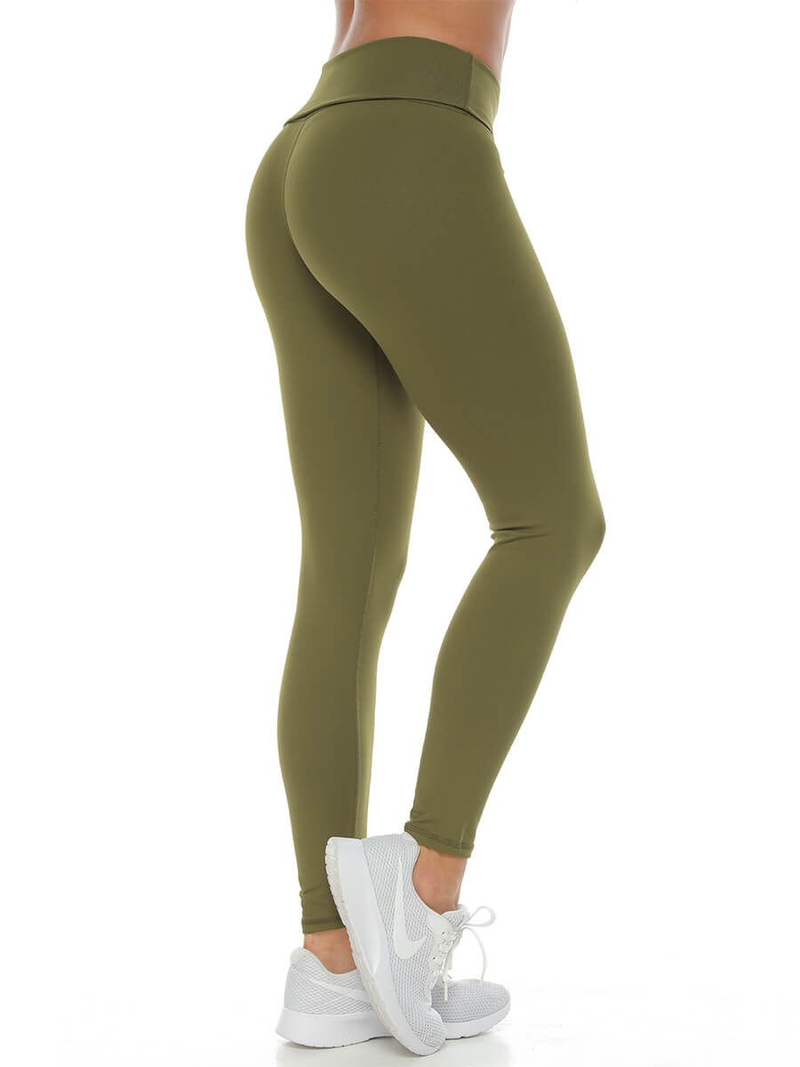 ELIXE ARMY GREEN LEGGINGS