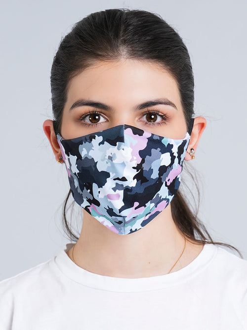 GIRL CAMO REVERSIBLE FACE MASK
