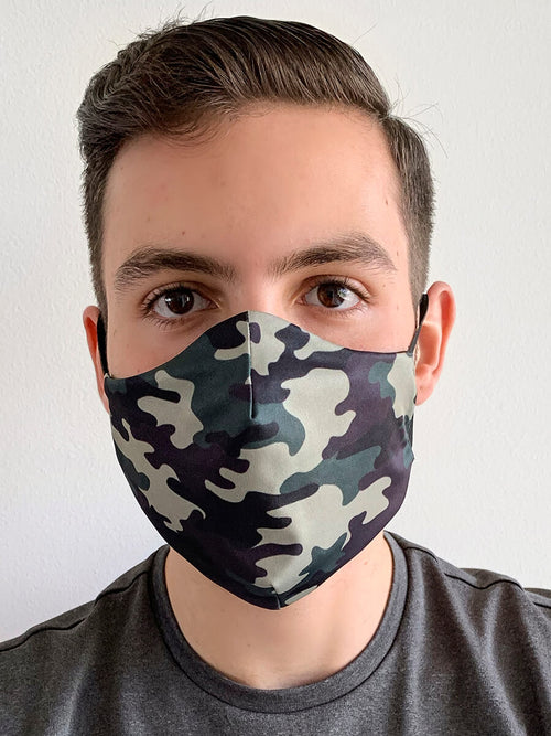 GREENCAMO REVERSIBLE FACE MASK
