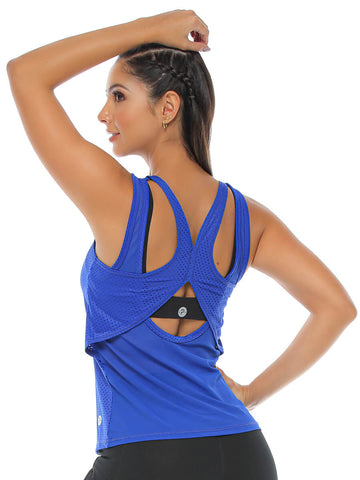 LISHA ELECTRIC BLUE TANK TOP