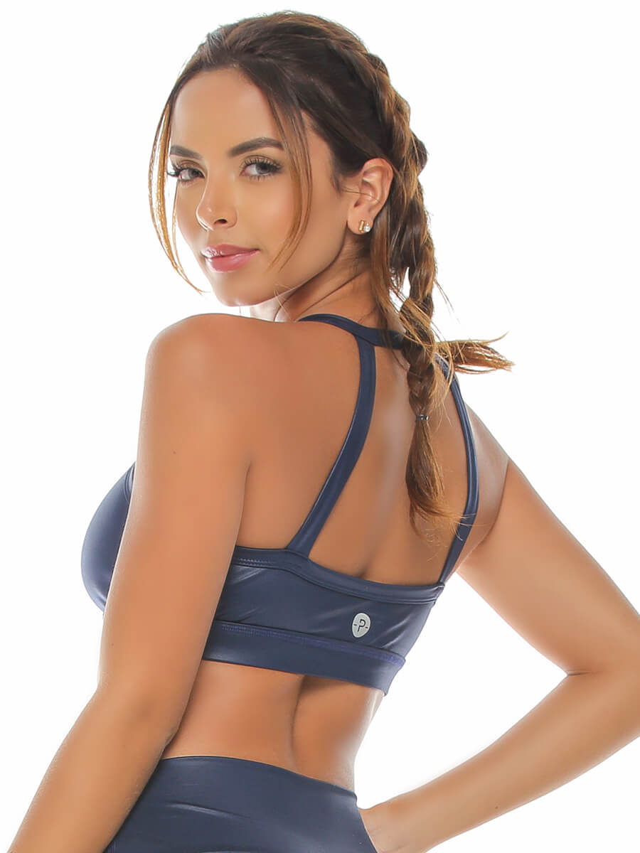 IRENE NAVY SPORTS BRA