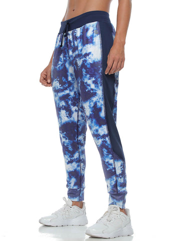 TIE DYE BLUE LEGGINGS