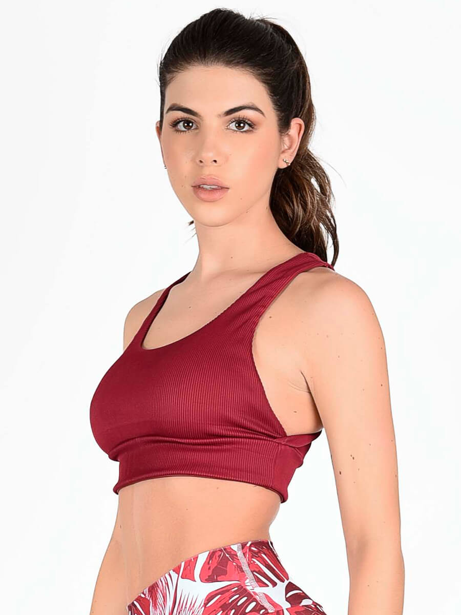 JOSIE RED SPORTS BRA