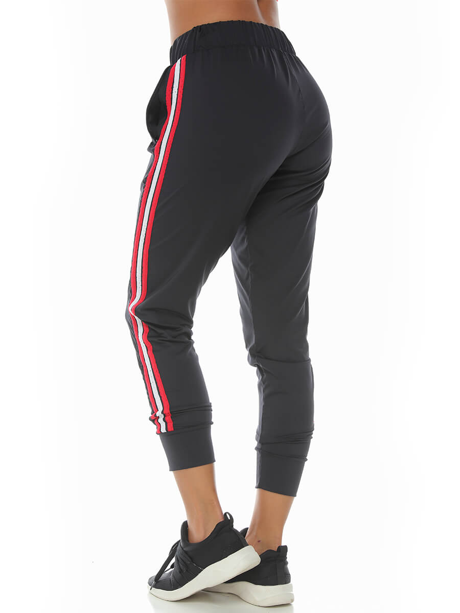 KATELIN BLACK-RED JOGGER