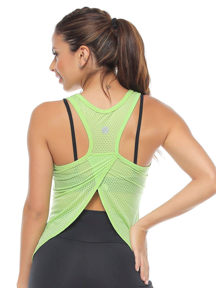 MELANIE LIGHT GREEN MESH