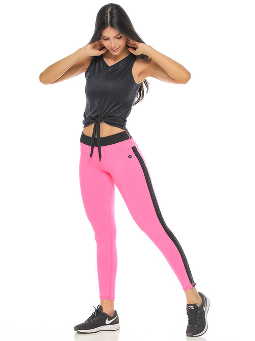 BEVERLY NEON PINK LEGGINGS