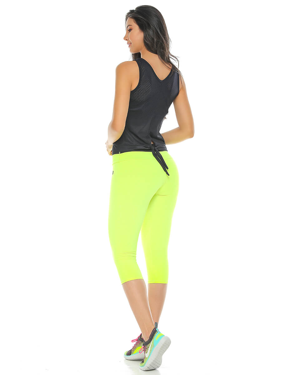 BEVERLY NEON GREEN CAPRI