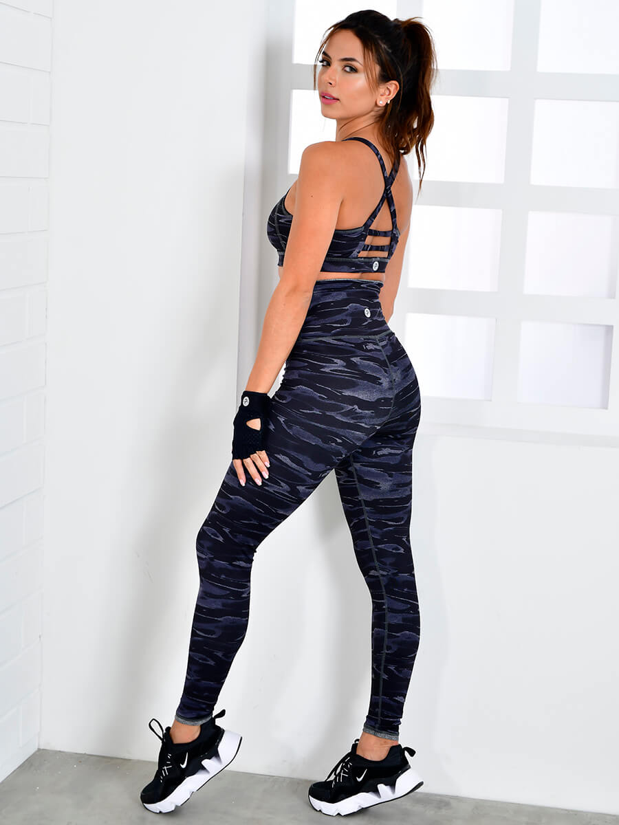 PRISCILLA BLACK CAMO LEGGINGS