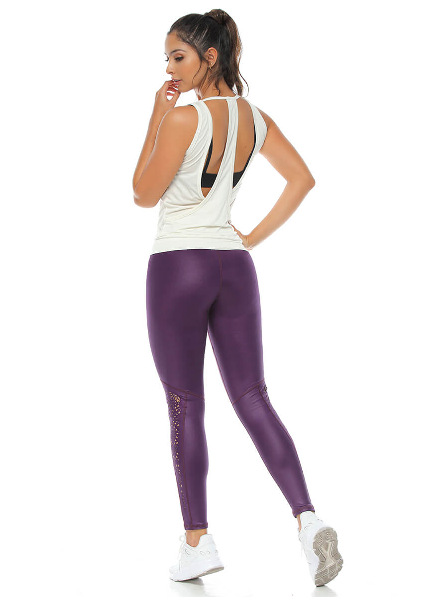 DONNA PURPLE LEGGINGS