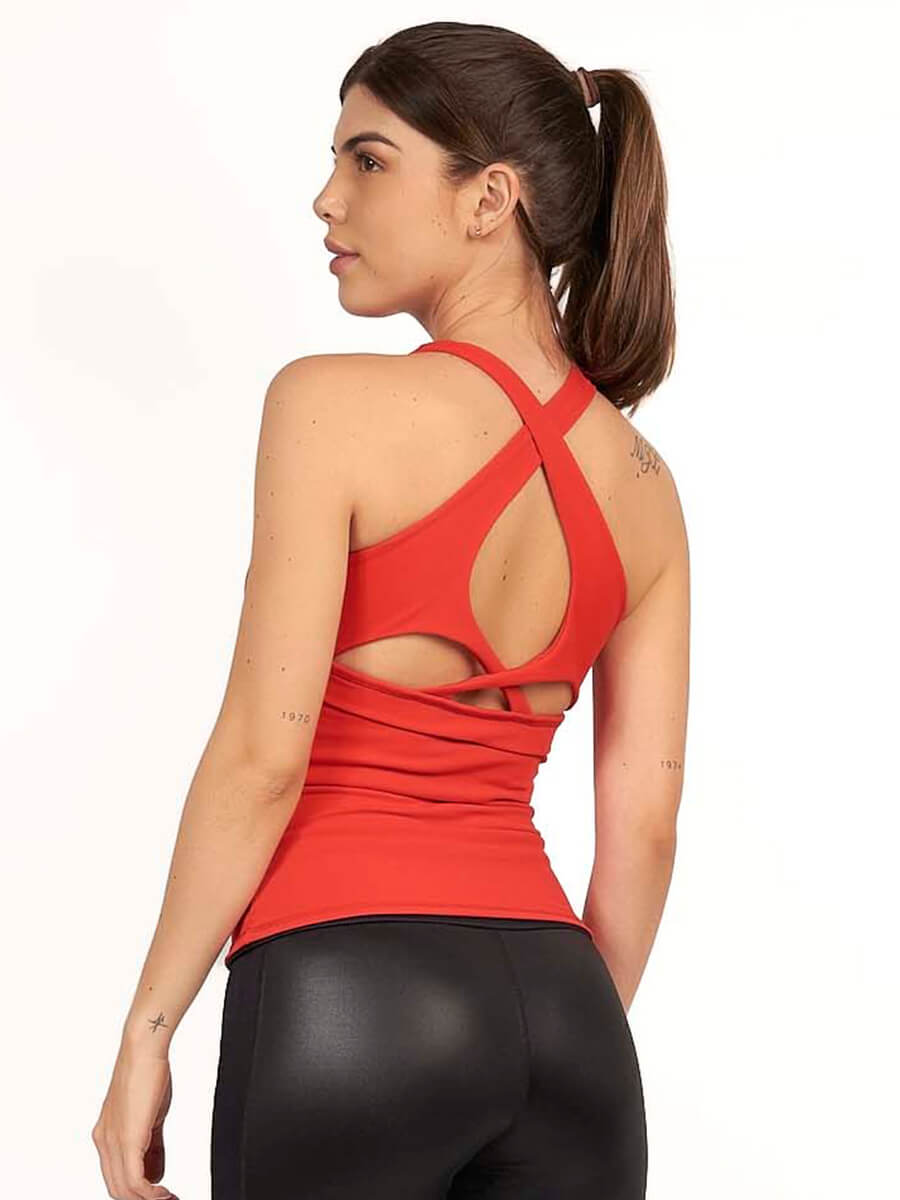 SHARON RED TANK TOP