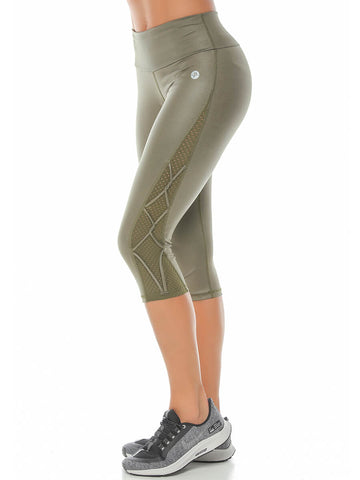 LORIE ARMY GREEN LEGGINGS