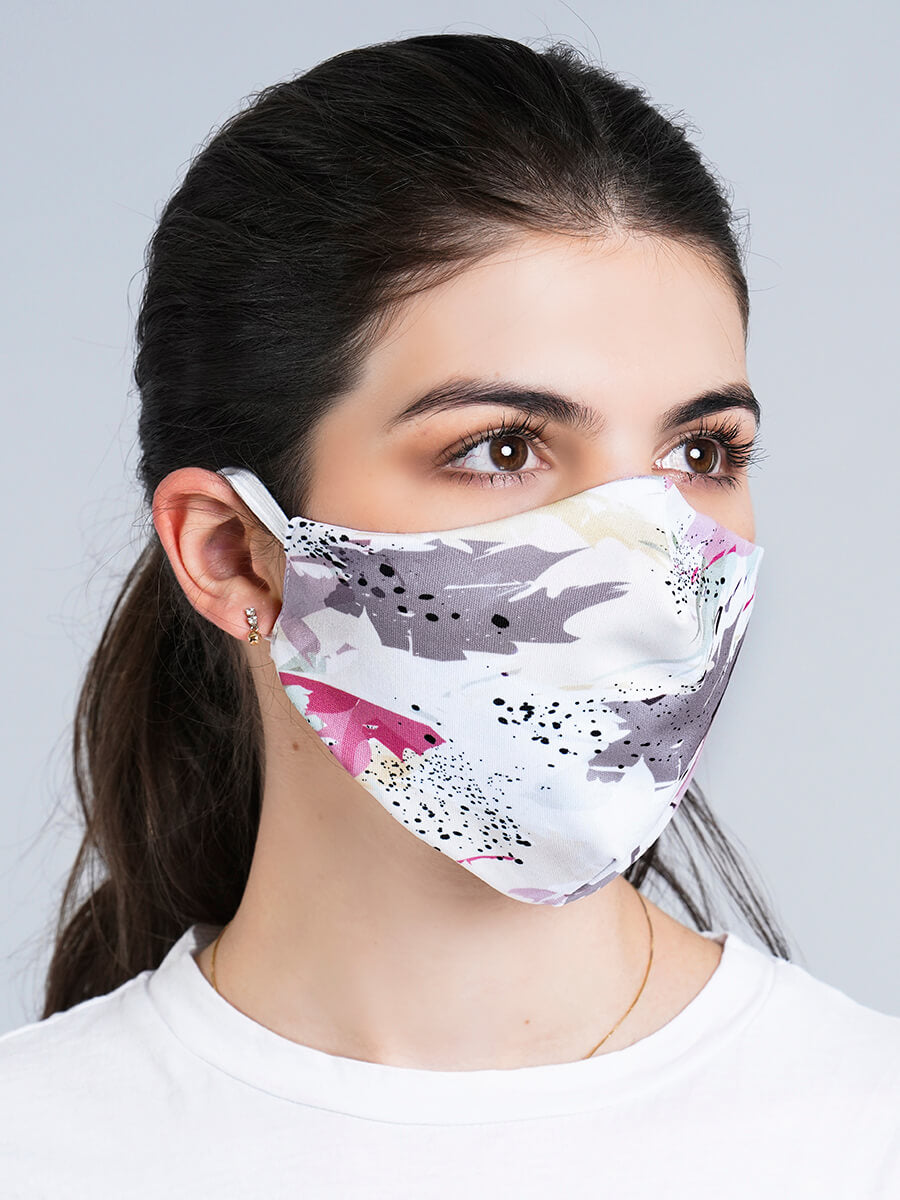 SWEET DOTS REVERSIBLE FACE MASK