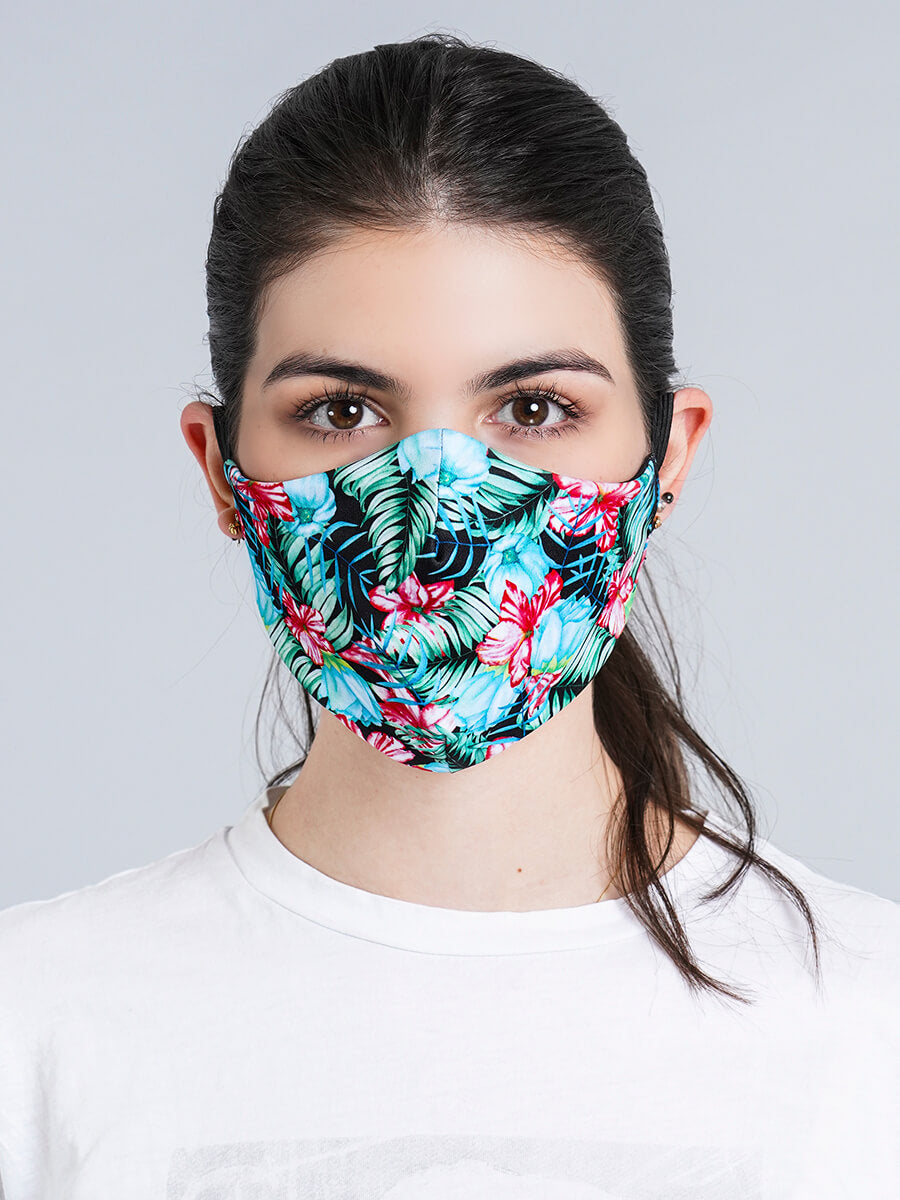 TROPICAL OWL REVERSIBLE FACE MASK