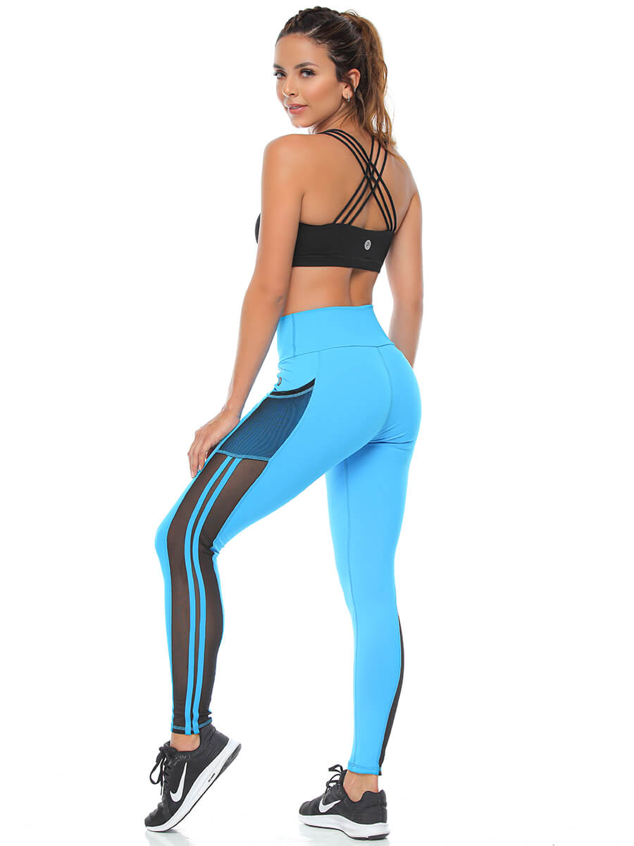 VIRGINIA TURQUOISE LEGGINGS