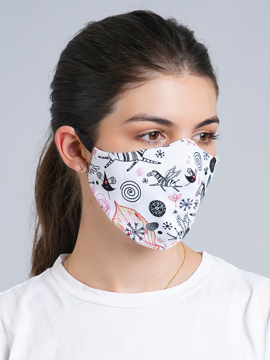 ZEBRA REVERSIBLE FACE MASK