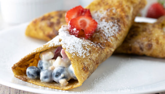 Fruity Yogurt French Toast Wraps