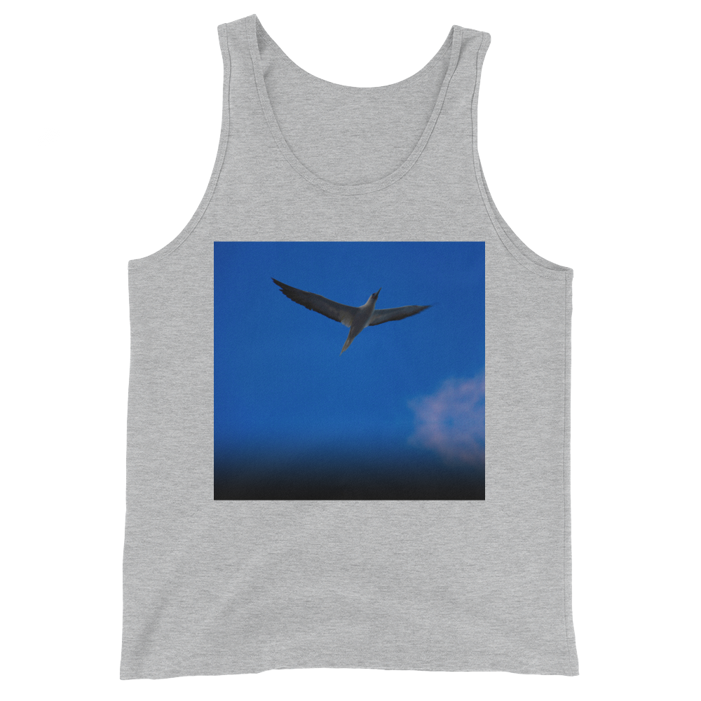 """Blue Bird"" Tank Top - Athletic Heather - Beachwear by Space Is Black Apparel"
