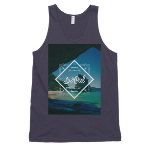 """SoCal"" Tank Top - Asphalt - Beachwear by Space Is Black Apparel"