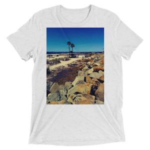 """Coronado Beach"" - White Fleck Triblend - Beachwear by Space Is Black Apparel"
