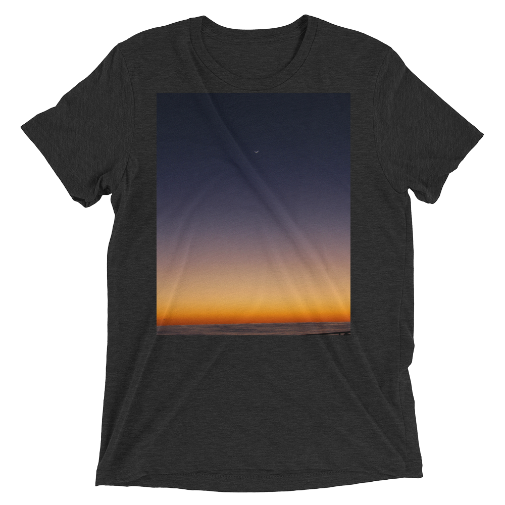 """Pacific Dawn"" - Charcoal-Black Triblend - Beachwear by Space Is Black Apparel"