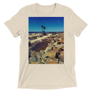 """Coronado Beach"" - Oatmeal Triblend - Beachwear by Space Is Black Apparel"