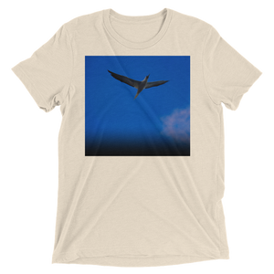 """Blue Bird"" - Oatmeal Triblend - Beachwear by Space Is Black Apparel"