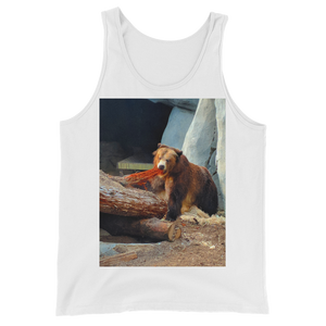 """Cali Bear"" Tank Top - White - Beachwear by Space Is Black Apparel"