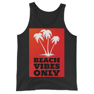 Beach Vibes Only (RED) - Black - Beachwear by Space Is Black Apparel