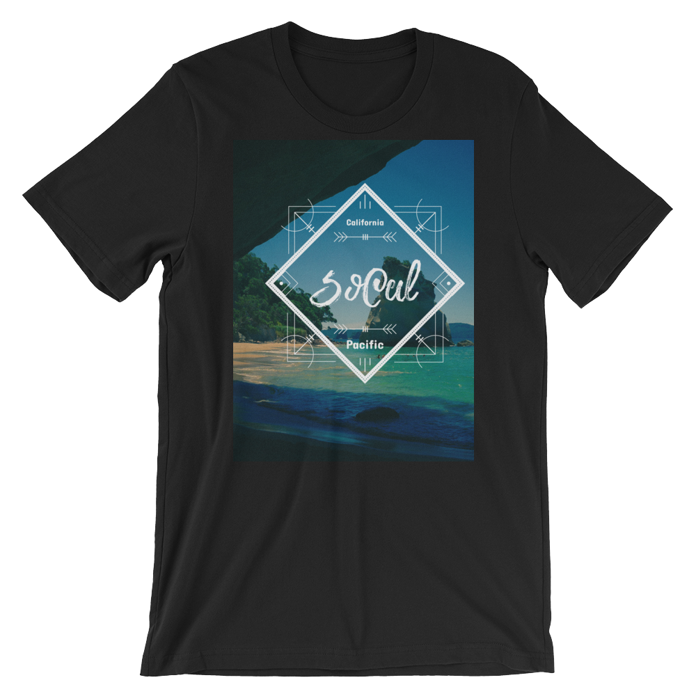 """SoCal"" T-Shirt - Black - Beachwear by Space Is Black Apparel"