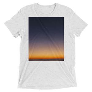 """Pacific Dawn"" - White Fleck Triblend - Beachwear by Space Is Black Apparel"