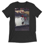 """Flamingo"" - Charcoal-Black Triblend - Beachwear by Space Is Black Apparel"