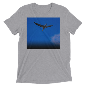 """Blue Bird"" - Athletic Grey Triblend - Beachwear by Space Is Black Apparel"