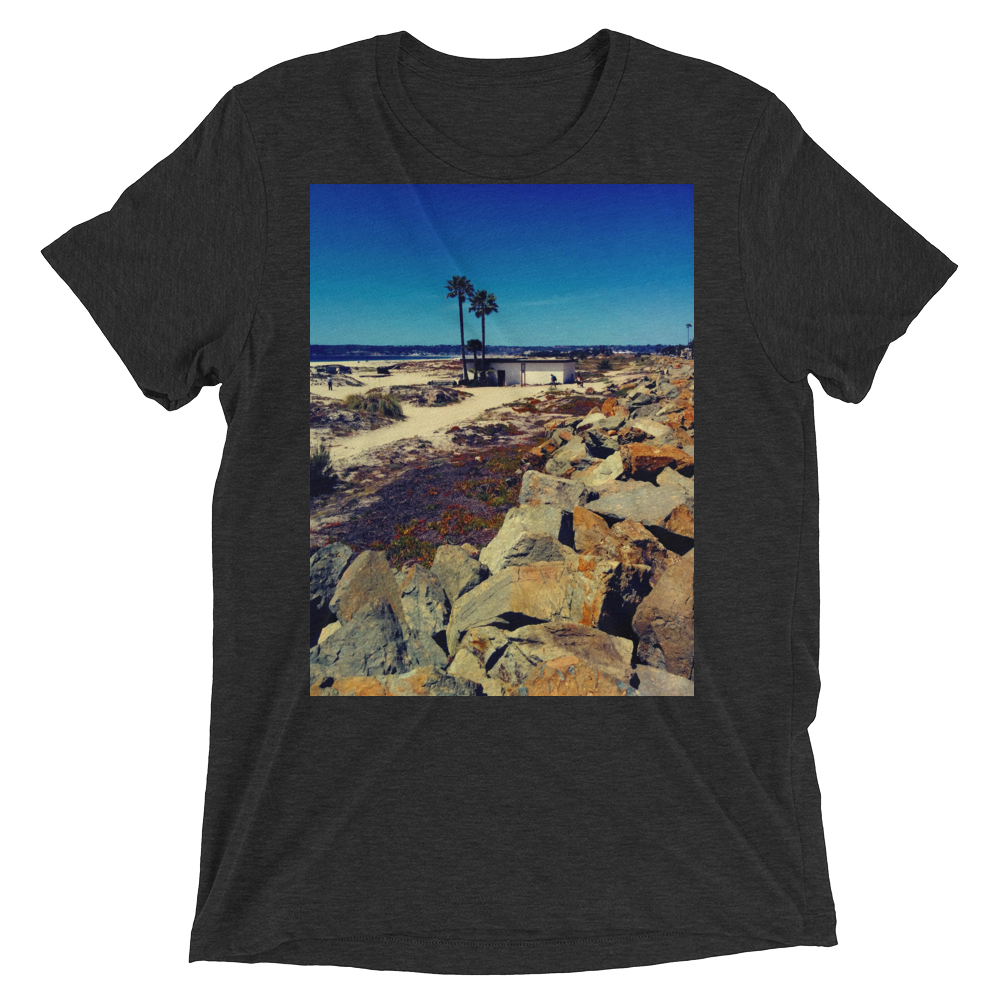 """Coronado Beach"" - Charcoal-Black Triblend - Beachwear by Space Is Black Apparel"