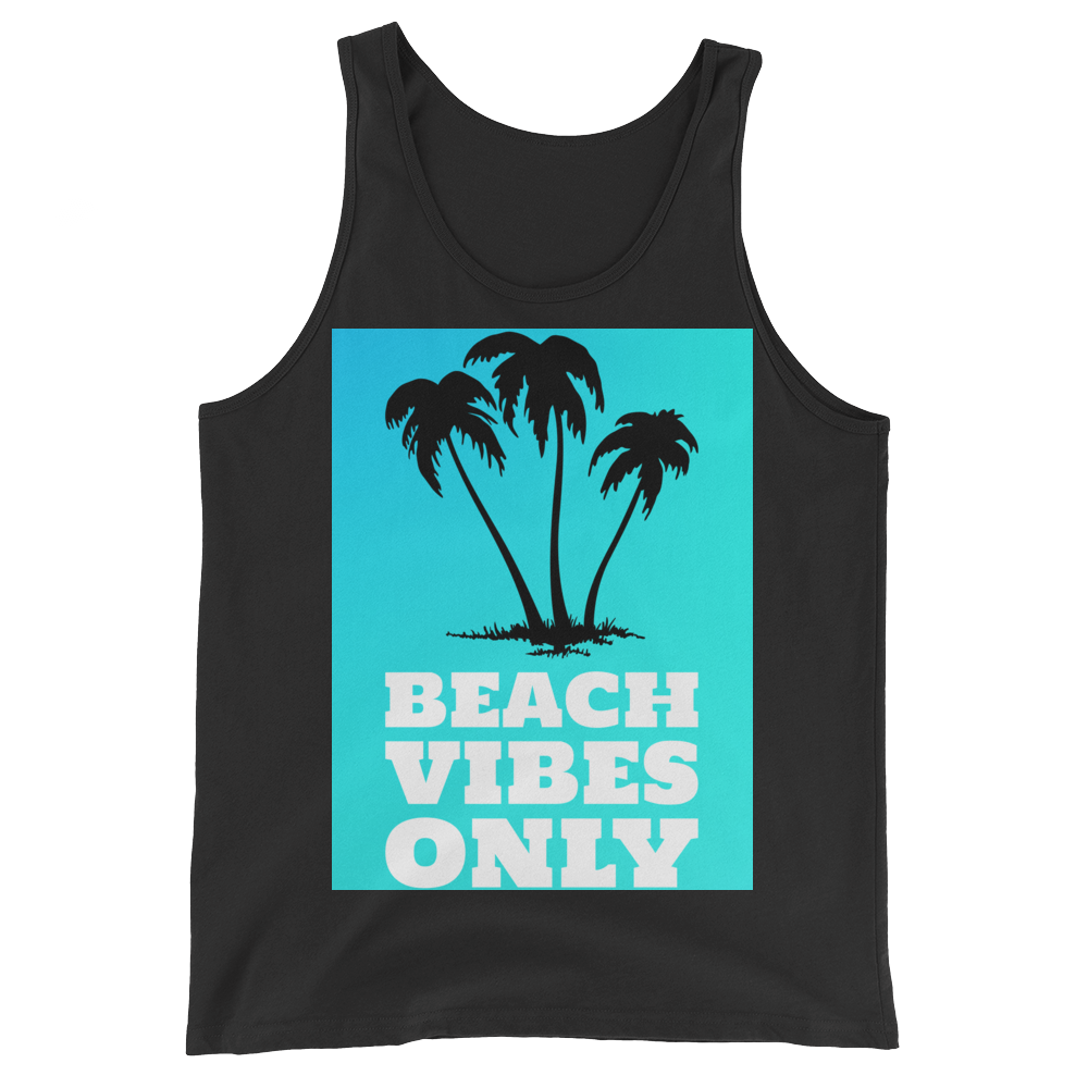 Beach Vibes Only (BabyBlue) - Black - Beachwear by Space Is Black Apparel