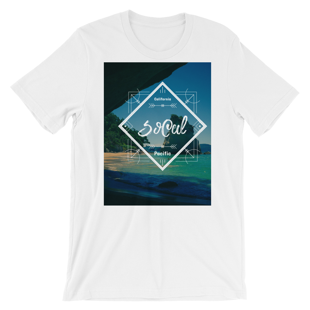 """SoCal"" T-Shirt - White - Beachwear by Space Is Black Apparel"