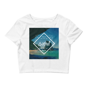 SoCal Women's Crop Tee by Space Is Black California Beach Clothing