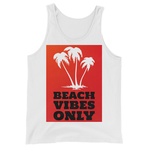 Beach Vibes Only (RED) - White - Beachwear by Space Is Black Apparel