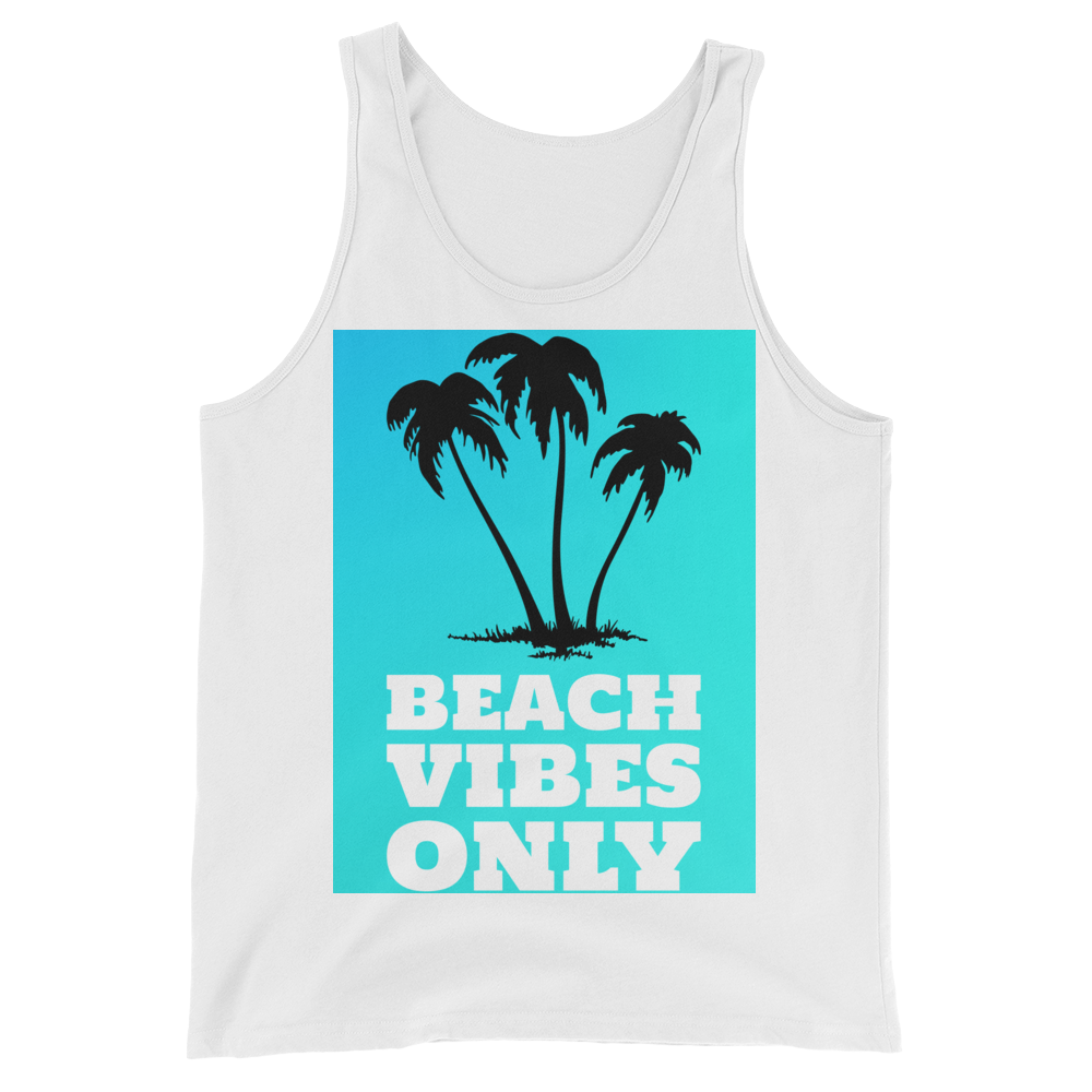 Beach Vibes Only (BabyBlue) - White - Beachwear by Space Is Black Apparel